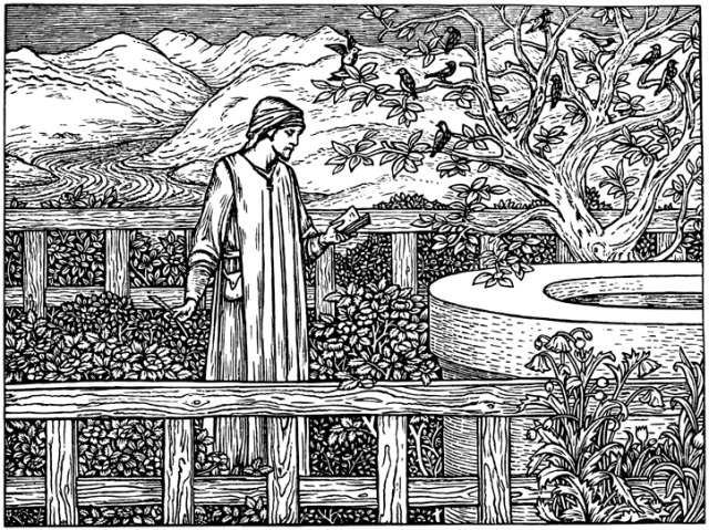 First wood-engraving by Burne-Jones